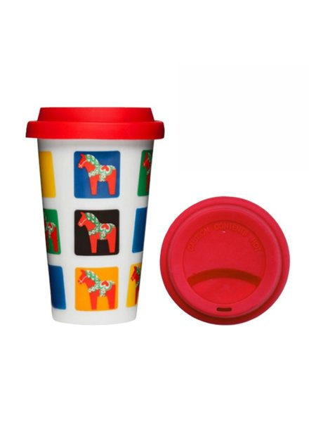 SAGAFORM TAKEAWAY MUG WITH SILICONE LID