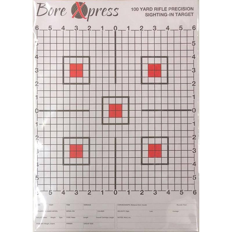 Bore Xpress Bore Xpress Sighting In Targets 10 Pk