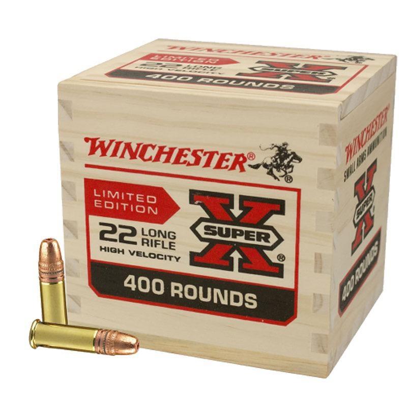 Winchester Winchester Super X 22LR 36gr. HP Wooden Box