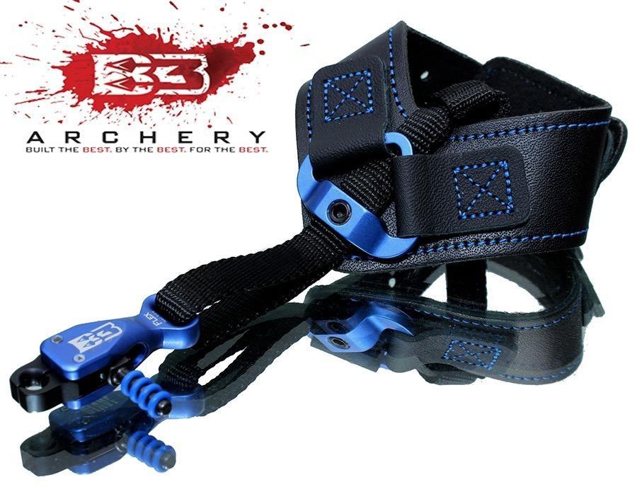 B3 Release B3 Archery Rival Dual Caliper Release Aid Blue/Black