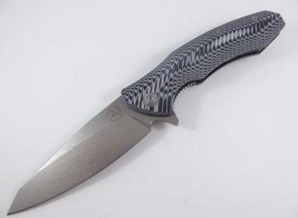 Tassie Tiger Knives Tassie Tiger Folding Pocket Knife D2 Steel, G10 Handle, Reverse Tanto Blade Black/White