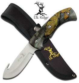 Elk Ridge Elk Ridge Gut Hook Skinner Camo with Sheath
