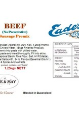 Butcher at Home Gourmet Sausage Beef Coeliac Meal (No Preservative) 1.25kg