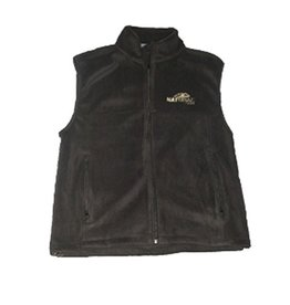 Natural Gear Natural Gear Solid Black Fleece Vest