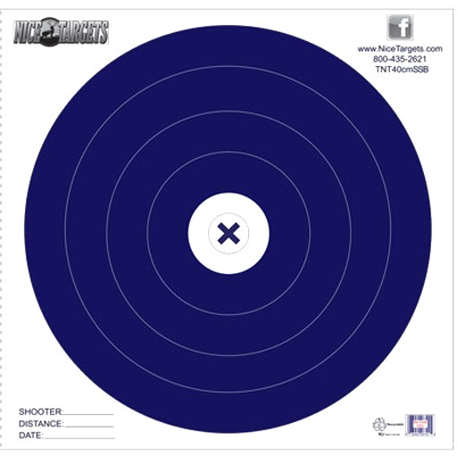 Nice Target Nice Target 40cm Single Spot Blue (Each)