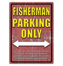 Rivers Edge Rivers Edge Tin Sign - Fisherman Parking