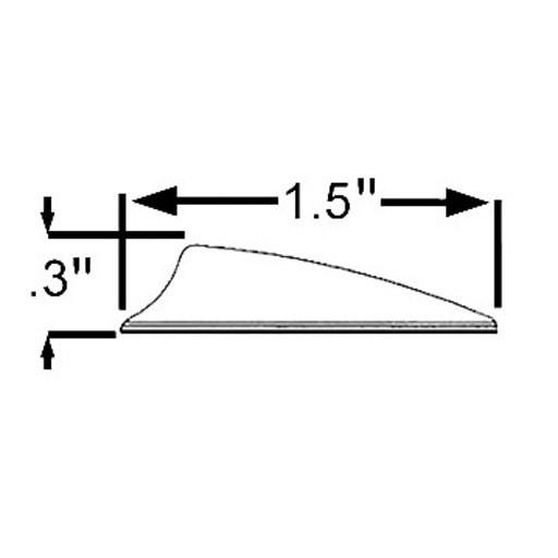 """Bohning Archery Bohning X Vane Shield Cut 1.5"""""""