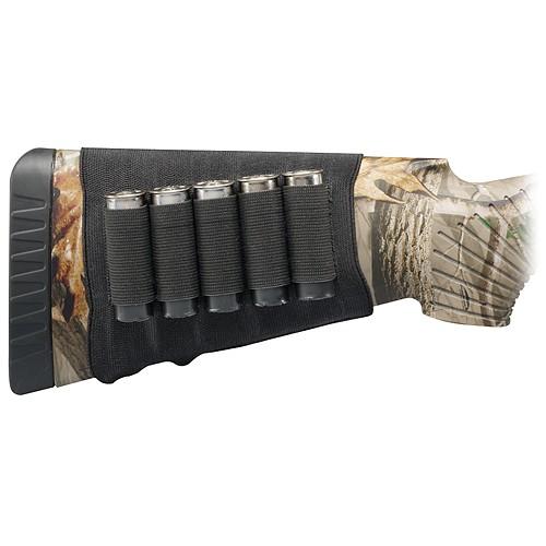 Hunter's Specialties H.S. Butt Stock Shotgun Shell Holder 5 Shell Elastic Black