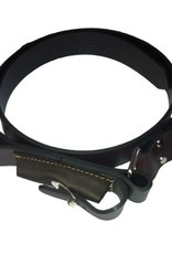 Leather Ringers Belt with Knife Pouch