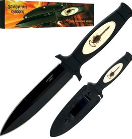 "The Knife Kompany Boot Knife Double Edge 5"" Blade Scorpion"