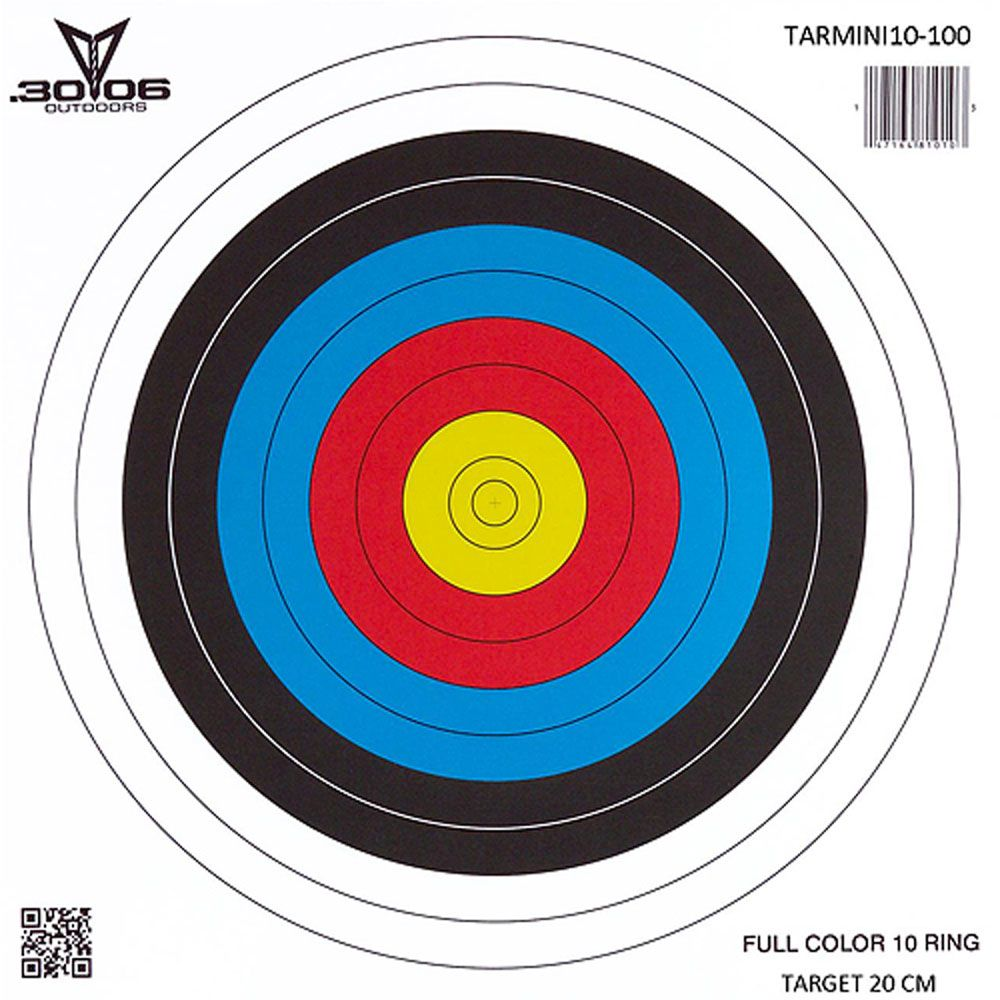 3006 3006 Mini Paper Target 10 Ring Each Sioux Archery