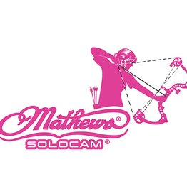 DWD DWD Mathews Decal Women's Archery Pink 10x5 in.