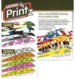 """Gateway Parabolic Printz Feathers 4"""" R/W"""