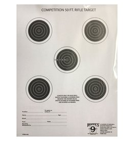 Hoppes Hoppes 9 Competition 50ft Rifle Target 5 Spot 20Pk