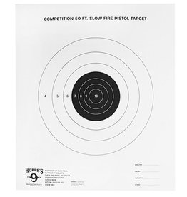 Hoppes Hoppes 9 Competition 50ft Slow Fire Pistol Target 20Pk