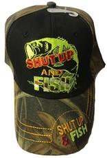 The Knife Kompany Shut Up & Fish Cap Camo Brim/Black Front