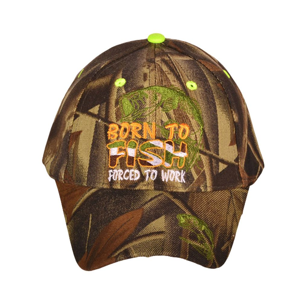 The Knife Kompany Born To Fish Forced To Work Cap Camo