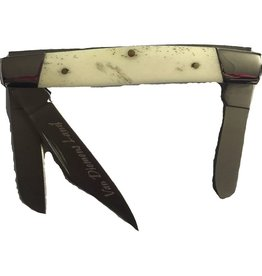 Performance Outdoors Van Diemens Stockman 3 Blade Bone Handle Folding Knife
