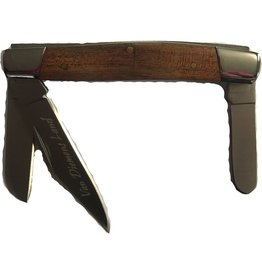 Performance Outdoors Van Diemens Stockman 3 Blade Wood Handle Folding Knife