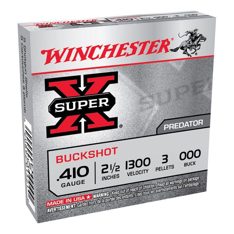 "Winchester Winchester Super X 410G OOO 2-1/2"" 3 pellet 5Pkt"