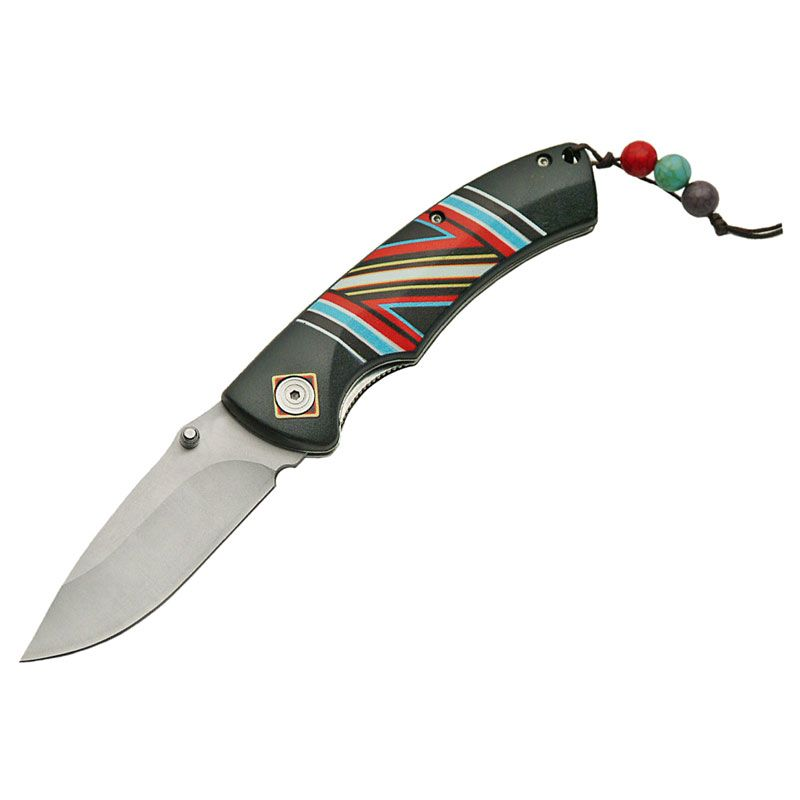 Piper Imports Spirit Indian Artwork  Folder Knife