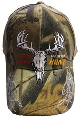 Piper Imports Life's is Simple Eat Sleep Hunt Cap Camo
