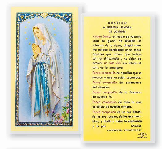 WJ Hirten Tarjeta Holy laminada (Laminated Holy Card)