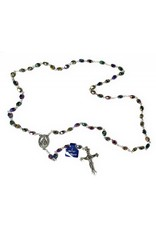 Moshy Brothers, Inc Real Crystal Rainbow Rosary with Deluxe Crucifix and Center