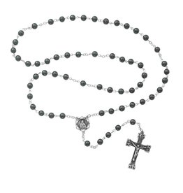 McVan 6mm Genuine Hematite Rosary