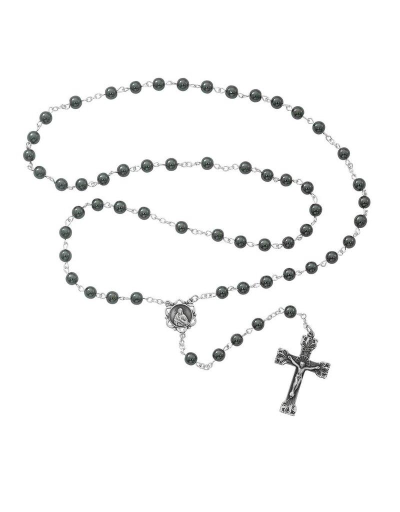 McVan 6mm Genuine Hematite Rosary