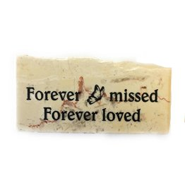"Holy Land Stone ""Forever missed - Forever loved"" Promise Stone"