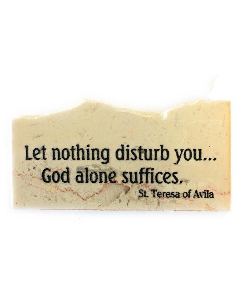 Holy Land Stone Let nothing disturb you - Promise Stone