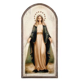 "Sacred Traditions 15"" Our Lady of Grace Arched Plaque"