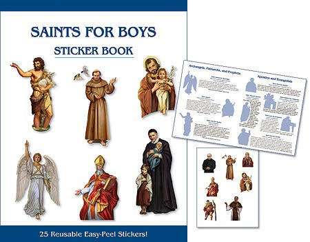 Aquinas Press Saints for Boys Sticker Book