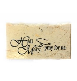 Holy Land Stone Hail Mary, pray for us - Promise Stone