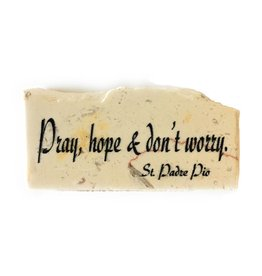 Holy Land Stone Pray, hope and don't worry - Promise Stone