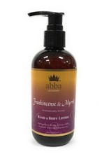 Abba Frankincense & Myrrh Hand and Body Lotion With Pump 8 oz