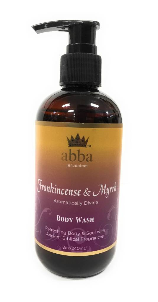 Abba Frankincense & Myrrh Body Wash with Pump 8oz