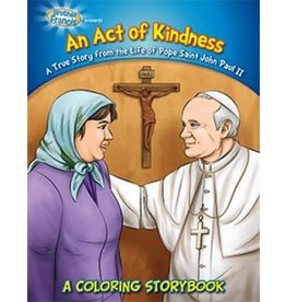 Herald Kids An Act of Kindness: A True Story from the life of Pope Saint John Paul II. A Coloring Storybook