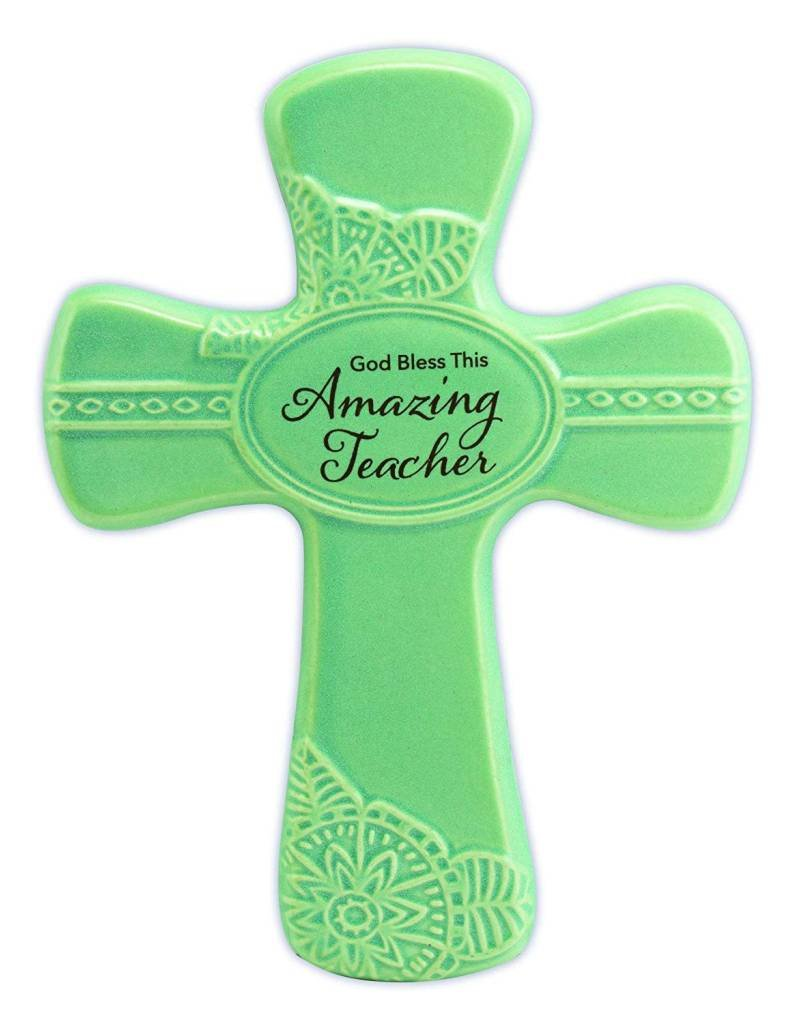 "Abbey Gift Abbey Gift Amazing Teacher Pottery Wall Cross, Measures 6""x8"""