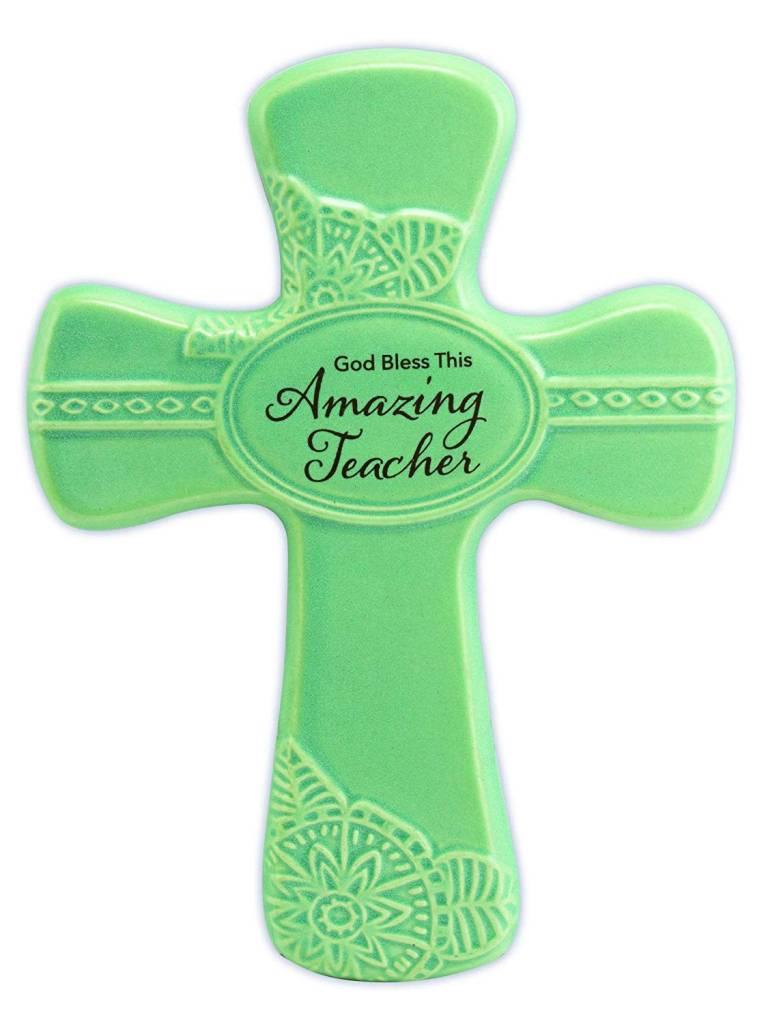 "Abbey Gift Abbey Gift Amazing Teacher Pottery Wall Cross, Measures 6""x8"""