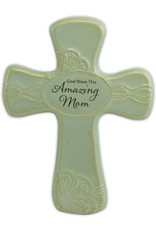 "Abbey Gift Abbey Gift Amazing Mom Pottery Wall Cross, Measures 6""x8"""