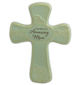 """Abbey Gift Abbey Gift Amazing Mom Pottery Wall Cross, Measures 6""""x8"""""""