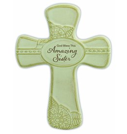 "Abbey Gift Abbey Gift Amazing Sister Pottery Wall Cross, Measures 6""x8"""
