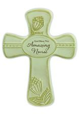 "Abbey Gift Abbey Gift Amazing Nurse Pottery Wall Cross, Measures 6""x8"""