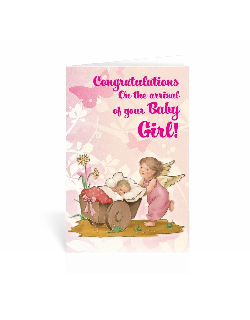 WJ Hirten Congratulations On The Arrival Of Your Baby Girl! Greeting Card