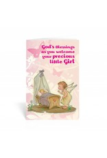 WJ Hirten God's Blessings As You Welcome Your Precious Little Girl Greeting Card
