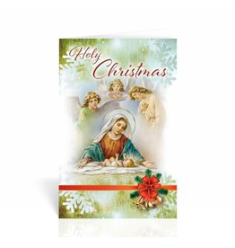 "WJ Hirten Box of 10 ""Holy Christmas"" Nativity Christmas Cards"