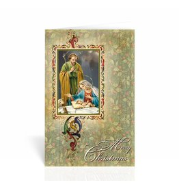"WJ Hirten Box of 10 ""Merry Christmas"" Nativity Christmas Cards"