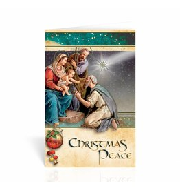 "WJ Hirten Box of 10 ""Christmas Peace"" Nativity Christmas Cards"